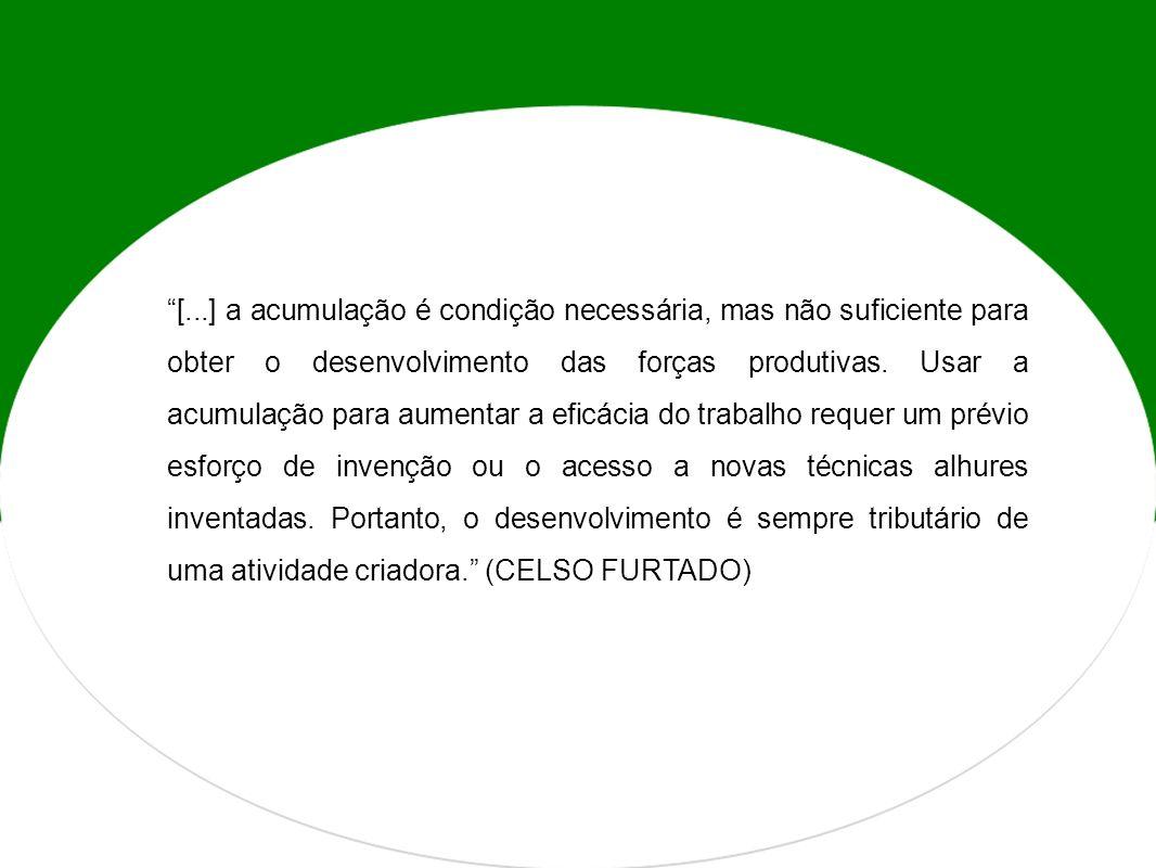 [...] a acumulação é condição necessária, mas não suficiente para obter o desenvolvimento das forças produtivas.